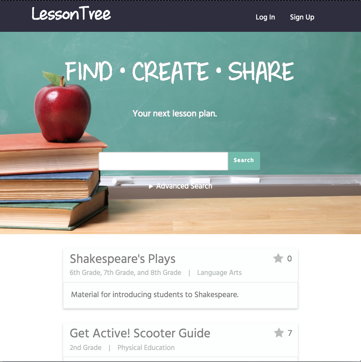 LessonTree screenshot